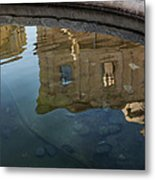 Noto's Sicilian Baroque Architecture Reflected Metal Print