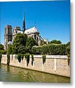 Notre Dame Cathedral And The Seine Metal Print