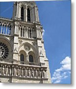 Notre Dame Cathedral Paris Tower Metal Print