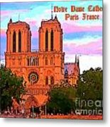 Notre Dame Cathedral Poster Metal Print