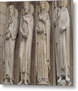 Notre Dame Cathedral Saints Metal Print