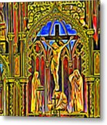 Notre Dame Color Metal Print
