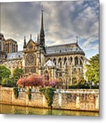 Notre Dame De Paris Cathedral Metal Print