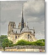 Notre Dame From The Seine Metal Print