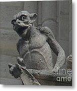 Notre Dame Gargoyle Metal Print