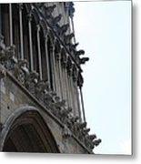 Notre Dame Gargoyle Row - Dijon Metal Print