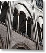 Notre Dame Gothic Arches Metal Print