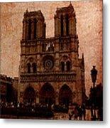 Notre Dame - Paris Metal Print by Soumya Bouchachi