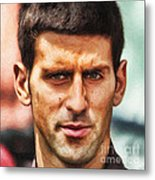 Novak Djokovic Metal Print by Nishanth Gopinathan