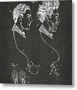 Novelty Wig Patent Artwork Gray Metal Print