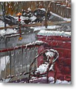 First Snowfall Nov 17 2014 Metal Print