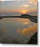 November Sunrise-lake Superior Metal Print