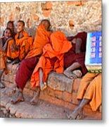 Novice Buddhist Monks Metal Print