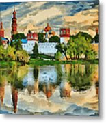 Novodevichy Monastery In Moscow Metal Print