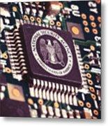 Nsa Computer Chip Metal Print