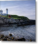 Nubble Dawn Metal Print by Joan Carroll