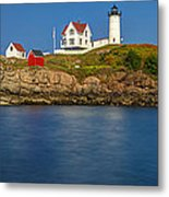 Nubble Light And A Clear Blue Sky Metal Print