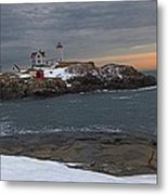 Nubble Light Christmas Metal Print