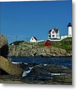 Nubble Light House York Beach Maine Metal Print