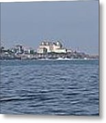 Nubble Lighthouse From Long Sands Beach Panorama Metal Print