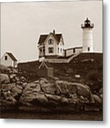 Nubble Light Metal Print by Skip Willits