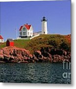 Nubble Lighthouse-cape Neddick Metal Print