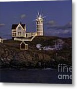 Nubble Lighthouse Ll Metal Print