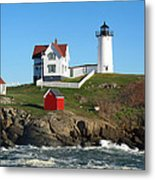Nubble Lighthouse One Metal Print