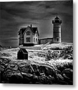 Nubble Night Metal Print by Tricia Marchlik