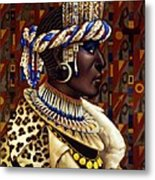 Nubian Prince Metal Print by Jane Whiting Chrzanoska