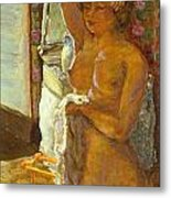 Nude Against The Light Metal Print by Granger