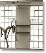 Nude Collar And Window Metal Print