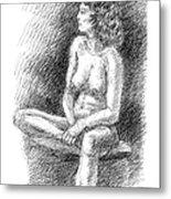 Nude Female Sketches 2 Metal Print