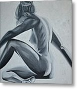 Nude Female - Snowstorm Metal Print by Holly Donohoe