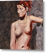 Nude French Woman Metal Print by Shelley Irish