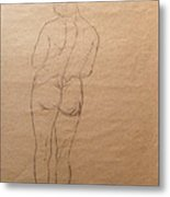 Nude From Back Metal Print