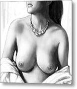Nude Girl Drawing Art Sketch - 12 Metal Print