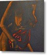 Nude In Darkness Metal Print
