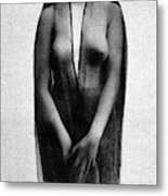 Nude In Sheer Clothing Metal Print