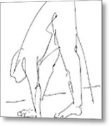 Nude Male Drawings 32 Metal Print