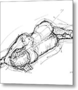 Nude Male Sketches 4 Metal Print