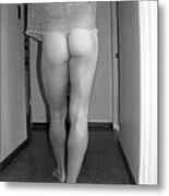 Nude Male Walking Metal Print