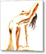 Nude Model Gesture IIi Metal Print