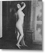 Nude Posing, 19th Ct Metal Print