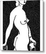 Nude Sketch 4 Metal Print