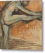 Nude Study For A Dancer At The Bar Metal Print