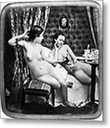 Nudes Having Tea, C1850 Metal Print
