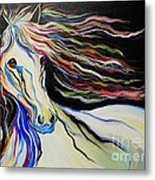 Nuella Horse With The White Shoulder Metal Print