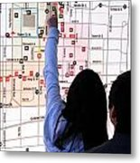 Nuit Blanche Map Metal Print