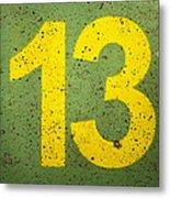 Number 13 Metal Print